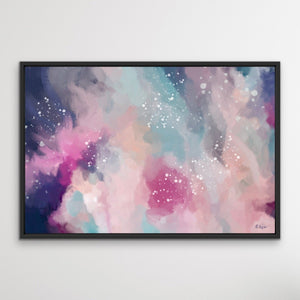 Dreamtime - Colourful Abstract Pink Blue Artwork Canvas Print I Heart Wall Art Australia