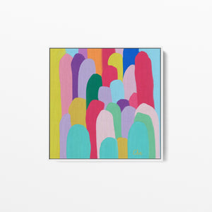 Edie Fogarty - Kata Tjuta (The Olgas) Colourful Abstract Original Wall Art Canvas Print I Heart Wall Art Australia