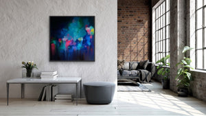 Edie Fogarty - 'Glade' Blue Colourful Abstract Original Artwork Print I Heart Wall Art Australia