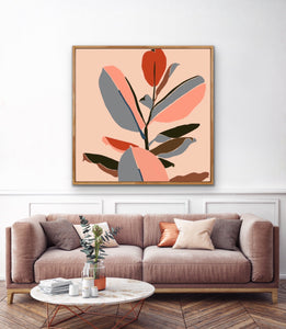 Gentle Days - Contemporary Block Plant Fiddle Lead Abstract Wall Art Print I Heart Wall Art Australia
