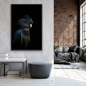 Guardian Black Cockatoo - Art Print Stretched Canvas Wall Art Cheap Wall Art Australia