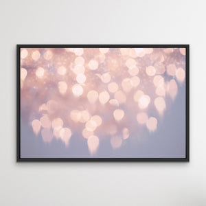 Gutter To The Stars Pink Bokeh Framed Wall Art Canvas Print Cheap Wall Art Australia