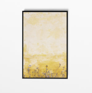 Halcyon Days - Floral Yellow Wall Art Print On Canvas Or Art Paper I Heart Wall Art Australia