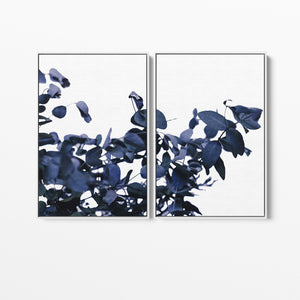 Hamptons 'Ghostly Blue' Eucalyptus Standard Two Piece Wall Art Print I Heart Wall Art Australia