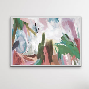 Holiday -  Original Abstract Nature Painting Stretched Canvas Wall Art Print I Heart Wall Art Australia