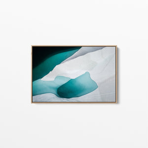 IceScape - Antarctic Ice Photographic Art Print Stretched Canvas Wall Art I Heart Wall Art Australia