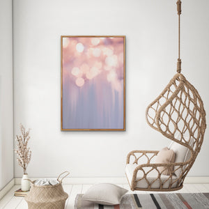 Light Show  -Pastel Abstract Stretched Canvas Wall Art Cheap Wall Art Australia