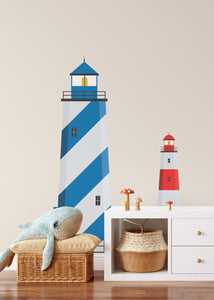 Lighthouse Decals - Red and Blue Lighthouse Decals for Kids Rooms I Heart Wall Art Australia