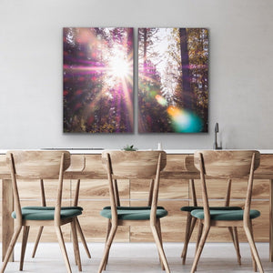Pink Flare - Two Piece Pink Bokeh Lensflare Wall Art Print s I Heart Wall Art Australia
