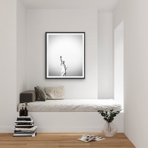 Statue of Liberty Black And White Photographic Art Print I Heart Wall Art Australia