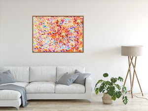 Sun Flare In Orange - Abstract Artwork Stretched Canvas Wall Art I Heart Wall Art Australia