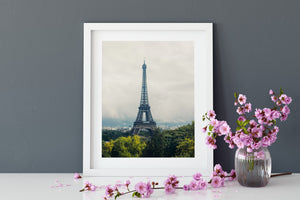 The Eiffel Tower - Paris Black and White Stretched Canvas Wall Art Cheap Wall Art Australia