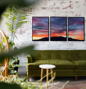 Three Piece Artwork - Mount Wellington, Hobart Canvas Art Print I Heart Wall Art Australia