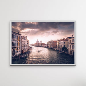 Venice Canal -Landscape Scene Venice Art Print Stretched Canvas Wall Art I Heart Wall Art Australia