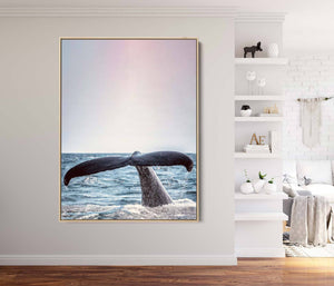 Whale Of A Tail - Photographic Print Of Whales Tail On Canvas or Paper I Heart Wall Art Australia