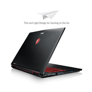 "MSI GL62M 7RDX-1408 15.6"" Full HD Thin & Light Performance Gaming Laptop Computer Quad Core i7-7700HQ, GeForce GTX 1050 2G Graphics, 8GB DRAM, 128GB SSD+1TB Hard Drive SteelSeries Red Backlit KB"