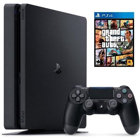Sony PlayStation 4 Slim 1TB Console Bundle with Grand Theft Auto V