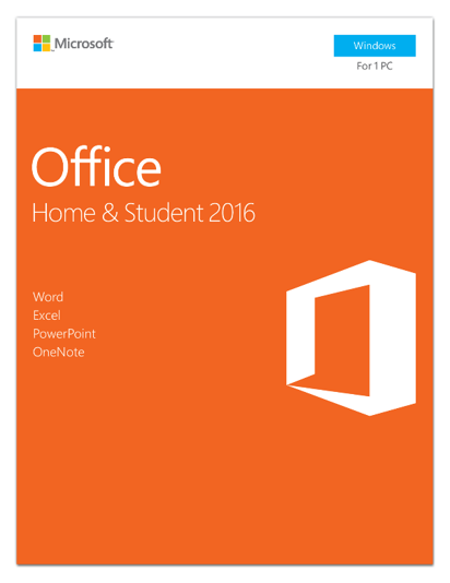 Microsoft Office Home & Student 2016 | 1 user, PC Key Card - English (US)
