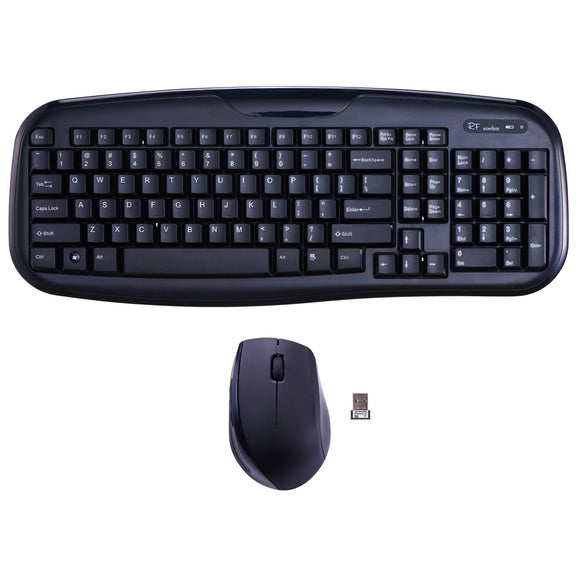 Onn Soft-Touch Wireless Keyboard And Mouse, Black