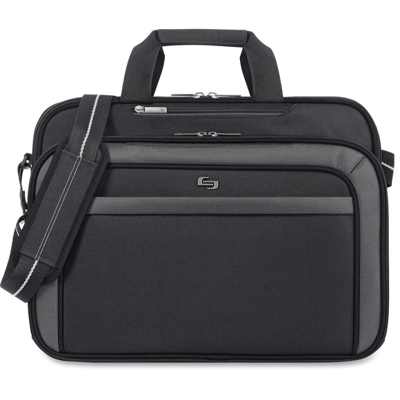 Solo, USLCLA3144, US Luggage CheckFast Clamshell Design Laptop Case, 1, Black