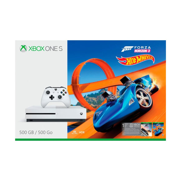 Microsoft Xbox One S 500GB Forza Horizon 3 Hot Wheels Bundle, White, ZQ9-00311