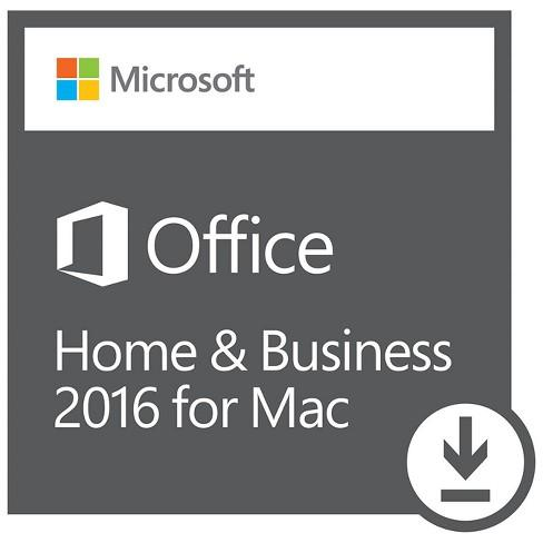 Microsoft Office Home & Business 2016 for Mac | 1 user, Mac Download