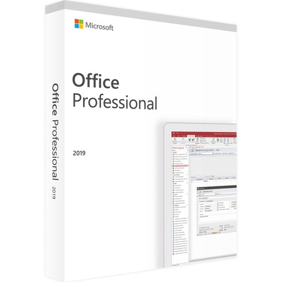 Microsoft Office Professional 2019 | 1 device, Windows 10 PC Key Card - English