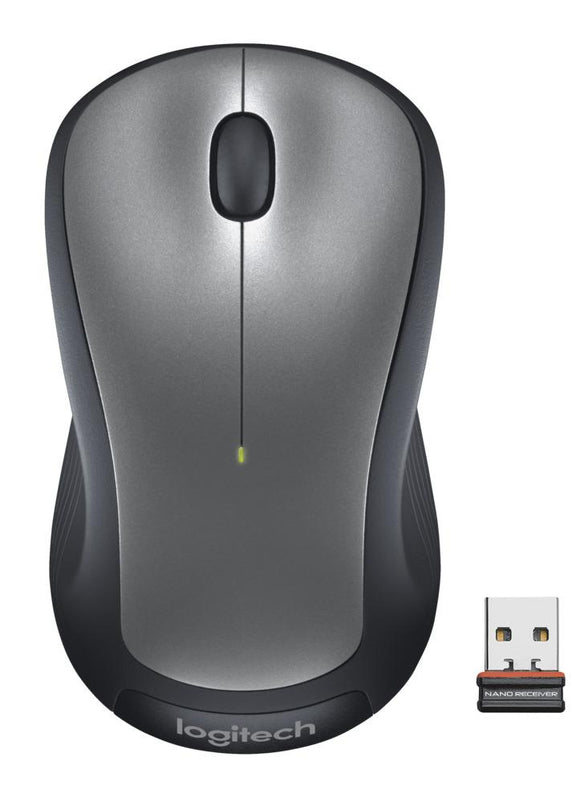 Logitech Full Size Wireless Mouse - Silver
