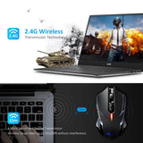 VicTsing 2400DPI Adjustable 2.4G Wireless Professional Gaming Mouse for Notebook PC Laptop Computer (Black)