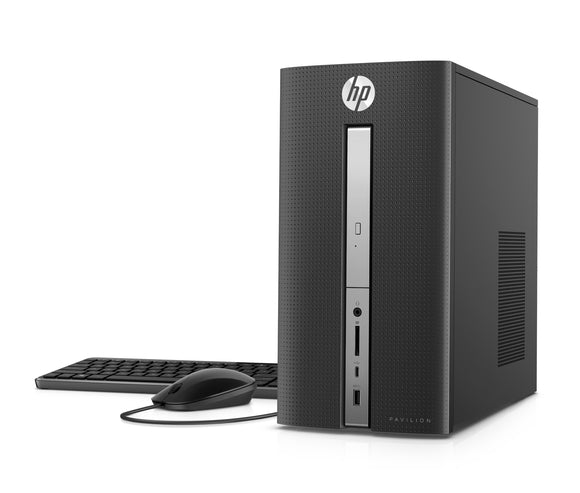 HP Pavilion Desktop Tower, Intel Core i7-7700 , 16GB Memory, 2TB Hard Drive, Windows 10 home, 570-p033w