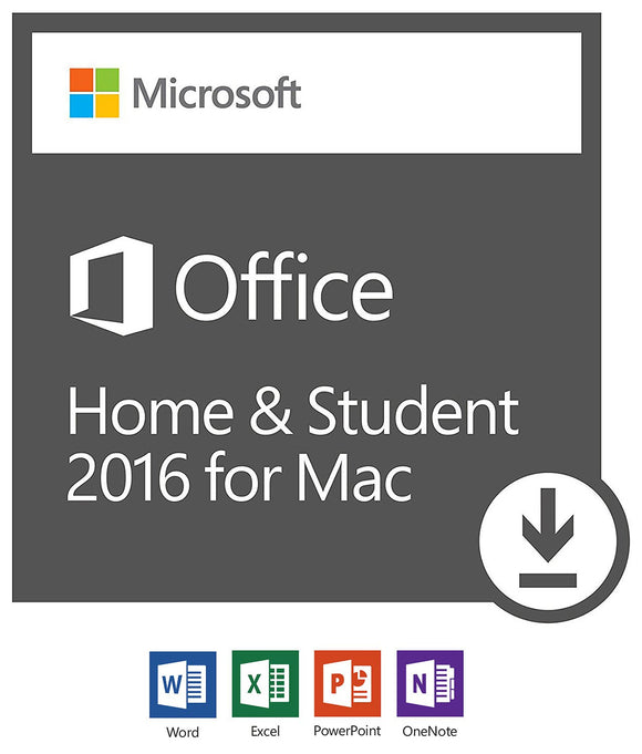 Microsoft Office Home & Student 2016 for Mac | 1 user, Mac Download