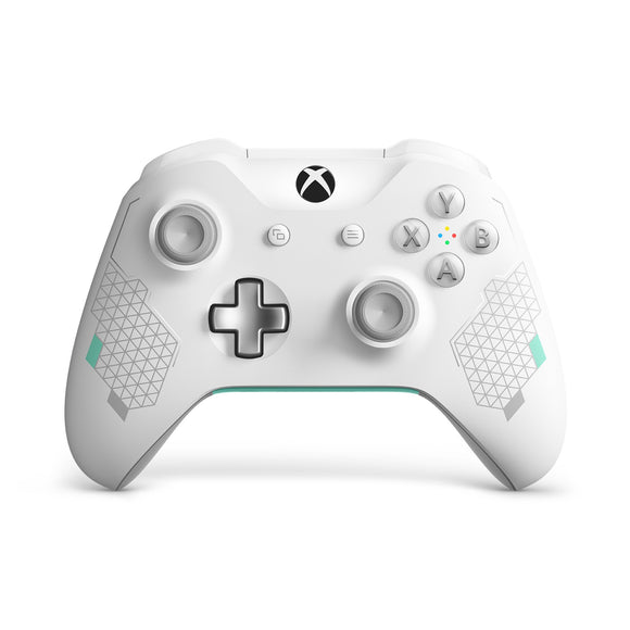 Microsoft Xbox One Wireless Controller, Sport White Special Edition, WL3-00082