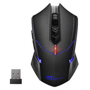 VicTsing 2400DPI Adjustable 2 4G Wireless Professional Gaming Mouse for  Notebook PC Laptop Computer (Black)