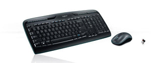 Logitech MK320 Wireless Desktop Set, Keyboard/Mouse, USB, Black