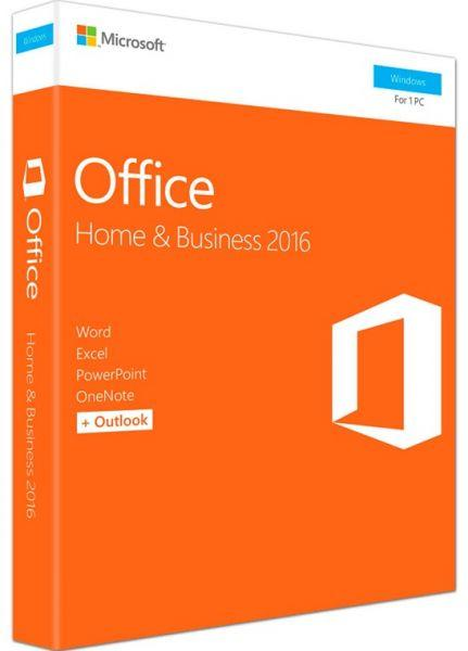 Microsoft Office Home & Business 2016 | 1 user, PC Key Card - English (UK)
