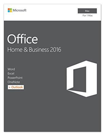 Microsoft Office Home & Business 2016 for Mac | 1 user, Mac Key Card - English (US)