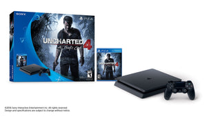 Sony PlayStation 4 Slim 500GB Console Bundle - Uncharted and Wireless Controller