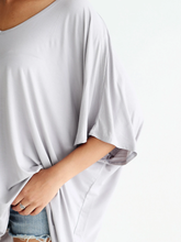 Load image into Gallery viewer, Dove Gray Dlmn Slouchy Oversized Top