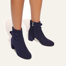 Load image into Gallery viewer, Boot-navy suede