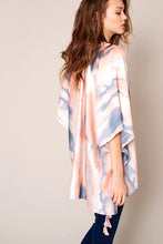 Load image into Gallery viewer, Tie Dye Print Tassels Kimono