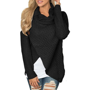 malianna Women Knitted Long Sleeve O-Neck Solid Girl Sweater Pullover Tops Blouse Shirt Pullovers Winter Clothing