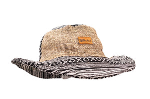 Hemp Hat - Black Patchwork