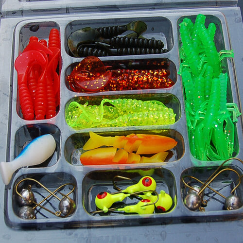 OhCoolstule™ 35Pcs Fishing Lure Kit Mixed Soft Worm Lure - OhCoolstule