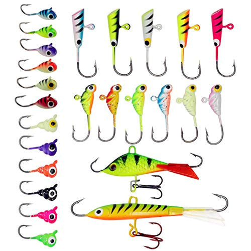 OhCoolstule™Fishing Lure Ice Fishing Jigs Kit Treble Hook 25Pcs - OhCoolstule