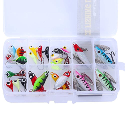 OhCoolstule™ Fishing Lure Ice Fishing Jig Kit Carbon Hooks 27Pcs - OhCoolstule