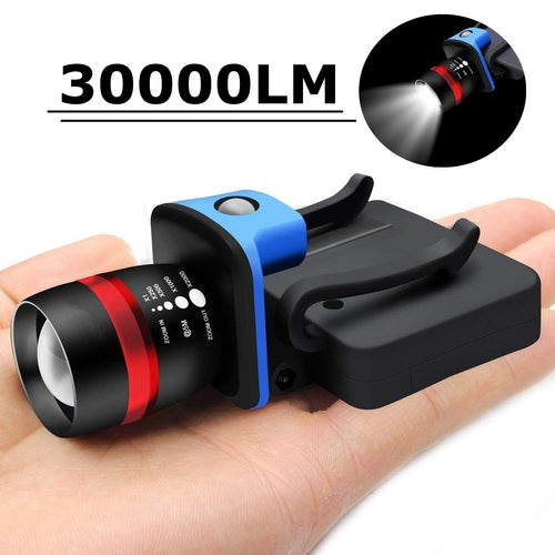 New Q5 LED Flashlight Hiking Fishing Zoomable Lamp Clip Brim Cap Hat Light Torch Headlamp Headlight use  AAA battery - OhCoolstule
