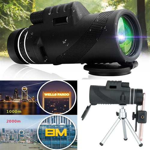 High Quality Monocular 40x60 Powerful Binoculars Zoom Field Glasses Great Handheld Telescope Military HD Professional Hunting - OhCoolstule