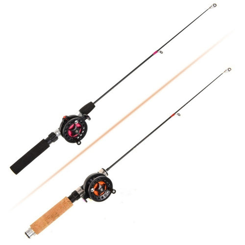 Ice Fishing Rod (Reel) Winter Super Short FRP Fiber Lightweight Retractable Telescopic Pole (Wheel) For Freshwater Saltwater - OhCoolstule