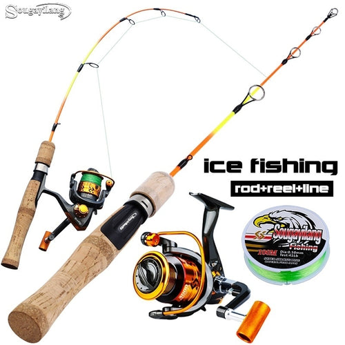 Sougayilang Ice Fishing Reel and Rod Combo super light   25in ice rod spinning reel - OhCoolstule
