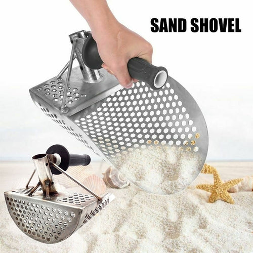 High Quality Beach Sand Scoop Shovel  Stainless Steel Sand Scoop Shovel Hunting Tool for Metal Detector - OhCoolstule
